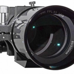 "TS-Optics Photoline 80mm Triplet APO Refractor 80/500mm f/6.25 FPL53 APO - 2.5"" Dual Speed Rack & Pinion Focuser - Carbon Fiber"