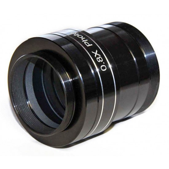 "TS 2"" PHOTOLINE 0.8x Reducer Field Flattener for 70mm and 80mm ED Refractors from f/6 to f/8"