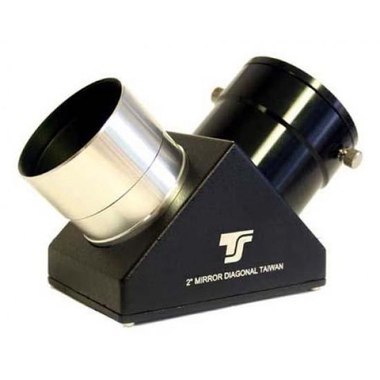 TS 2-Inch Star Diagonal 91% Reflectivity - 1.25-Inch Compatible