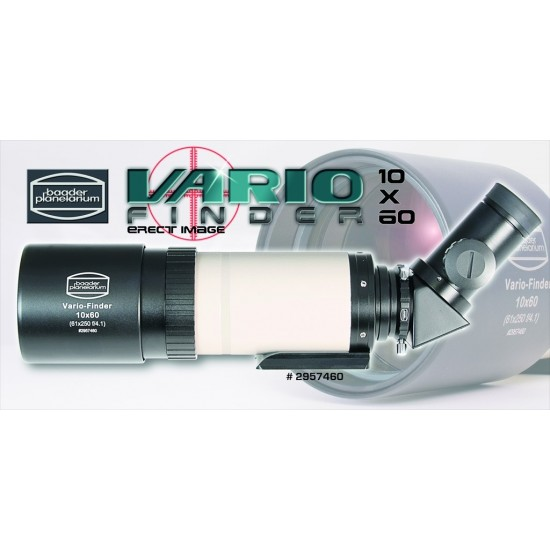 Baader Vario-Finder 10x60 with Astro Lens, 45-degree Erect Image Prism and 25mm Illuminated Reticle Eyepiece