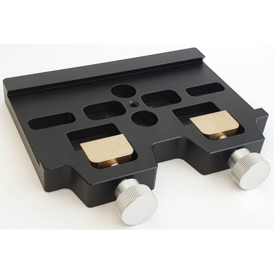 Large 16cm Mounting Platform / Clamp for Losmandy-style Dovetail Bars - Black