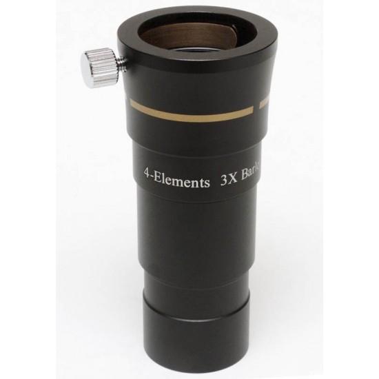 "365Astronomy 1.25"" 4-Element 3X Deluxe Apochromatic Barlow"
