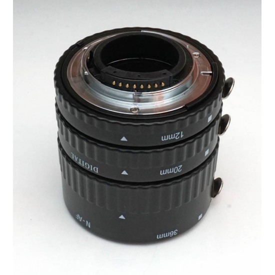 Commlite CM-ME-AFN Macro Extension Tube Set TTL Autofocus for Nikon Lenses - METAL