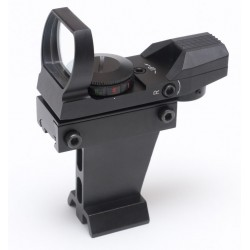 365Astronomy Deluxe Multi Reticle Red Dot Finderscope Metal Body - RED/GREEN LED (wide base)