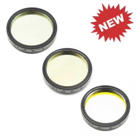 """ZWO 2"""" H-alpha SII OIII 7nm Narrowband Filter Set"""