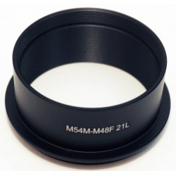 ZWO M54 Male to M48 Female Adapter and Extension - 21mm Length