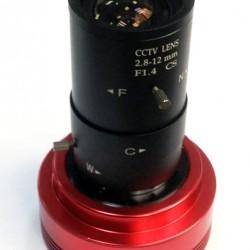 ZWO 2.8mm-12mm f/1.4 CS Lens for ZWO ASI120, ASI290 and ASI224 Cameras