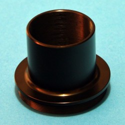 """Adapter from 1.25"""" to T2 with M28.5 Inner Filter Thread"""