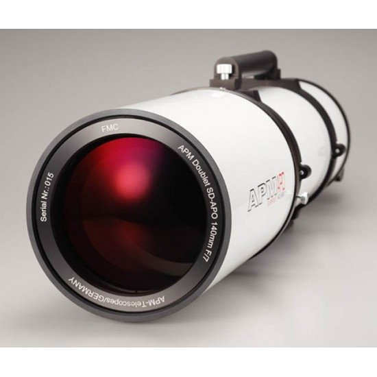 "APM Doublet SD APO 140-980 f/7 FPL53 Optical Tube with 3.7"" Dual Speed Focuser"