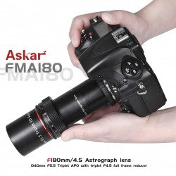 ASKAR FMA F180 f/4.5 Astrograph Camera Lens - Triplet APO Refractor Telescope with f/4.5 reducer