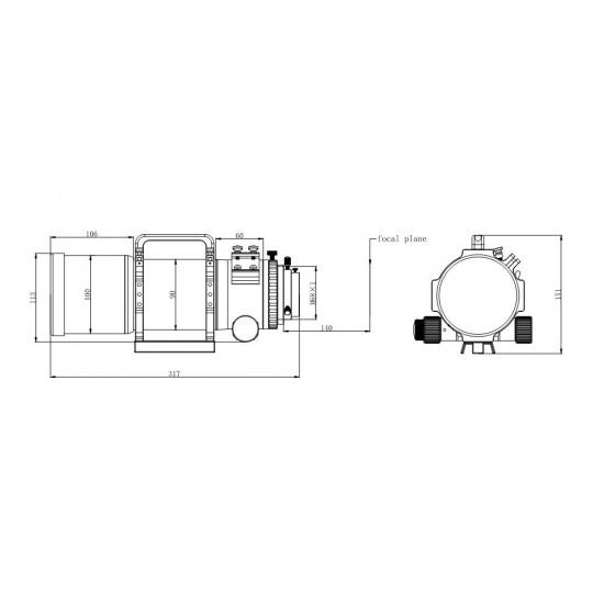 ASKAR FRA400 f/5.6 Quintuplet Astrograph APO Apochromatic Refractor Telescope