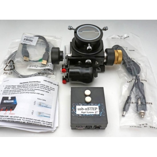 RIGEL Stepper Motor, USB nStep Focus Control with WIFI and Installation Kit for Baader Steeltrack Newtonian Focuser