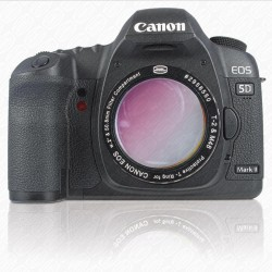 "CANON DSLR T-RING with 2"" Filter Container w UV/IR-CUTOFF FILTER"