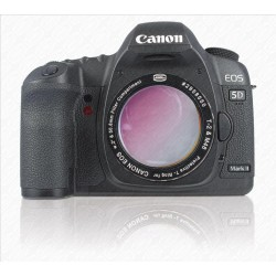 """CANON DSLR T-RING with 2"""" Filter Container w UV/IR-CUTOFF FILTER"""