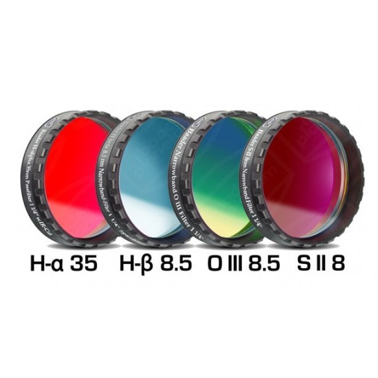 """Baader Narrowband Filterset 1'/4"""" for Interline-CCD (4 Filters)"""
