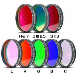 """Baader CCD Complete Filterset 2"""" LRGBC, H-alpha 7nm, OIII 8.5nm, SII 8nm - 2mm thick, 8 Filters"""