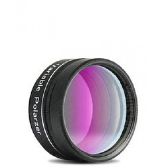 """1.25"""" double polarizing filter w/ rotating filter cell"""