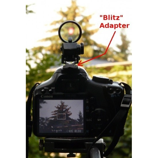 Blitz Hotshoe dSLR Camera Adapter and Deluxe Multi Reticle Red Dot Finder COMBO