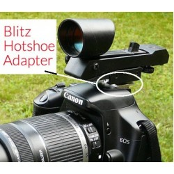 Blitz Hotshoe dSLR Camera Adapter and Red Dot Finder COMBO