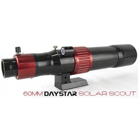 DayStar Solar Scout 60mm Dedicated Carbon Fiber H-Alpha Solar Telescope - CHROMOSPHERE Model with ThermoCharge 6 Power Bank