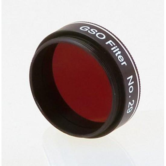 "Castell #29 Dark Red Planetary Filter 4% Transmission -  1.25"""