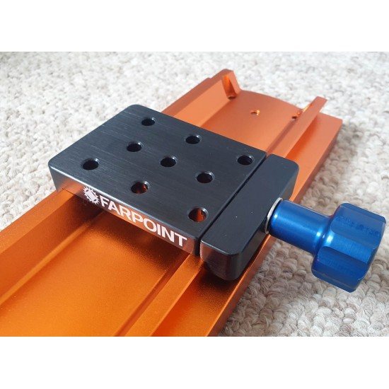 """FARPOINT Dovetail Accessory Adapter / Clamp for 3"""" Rails"""