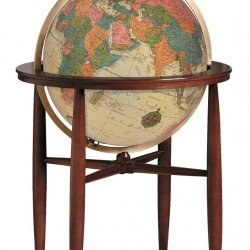 "20"" The Finley Antique Style Floorstanding Globe"