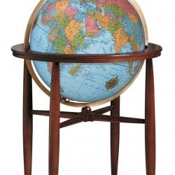"""20"""" The Finley Blue Floorstanding Globe"""