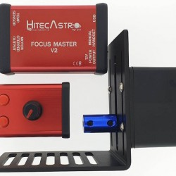 Hitec Astro Focus Master V2 Stepper Motor Based Focus Controller with Stepper Motor, Bracket & Hand Controller