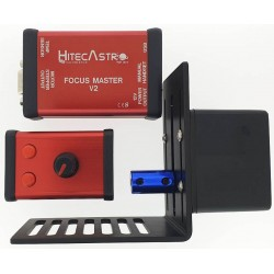 Hitec Astro Focus Master V2 Stepper Motor Based Focus Controller with Stepper Motor, Bracket & Hand Controller