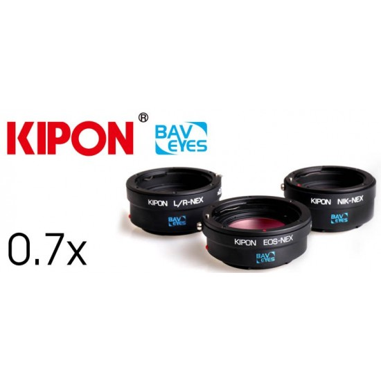KIPON Baveyes 0.7x Optical Reducer and Lens Adapter Canon EOS EF Lens to SONY Nex E-mount - CLEARANCE