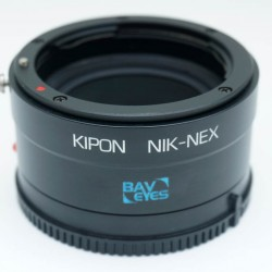 KIPON Baveyes 0.7x Optical Reducer and Lens Adapter Nikon F Lens to SONY Nex E-mount - CLEARANCE