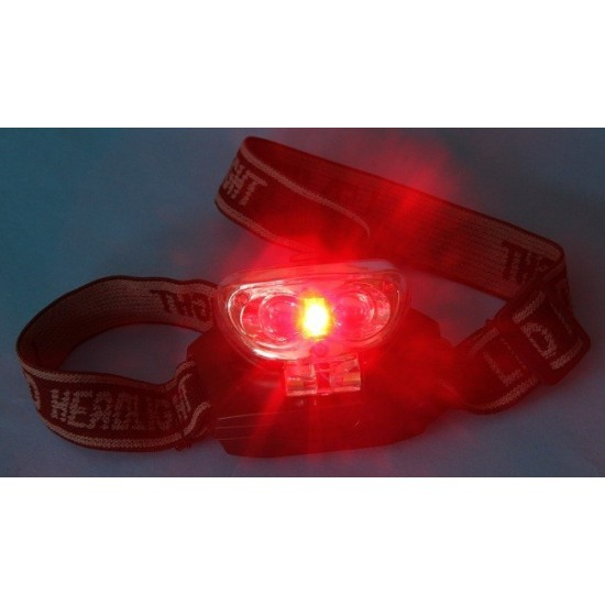 365Astronomy Triple LED Red and White Headlight with Adjustable Angle Head