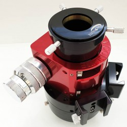 """Moonlite CF DUAL Speed Crayford Focuser for Skywatcher Refractors with 4.5"""" Travel with Compression Ring - RED Colour"""