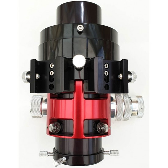 "Moonlite CF DUAL Speed Crayford Focuser for Skywatcher Refractors with 4.5"" Travel with Compression Ring - RED Colour"