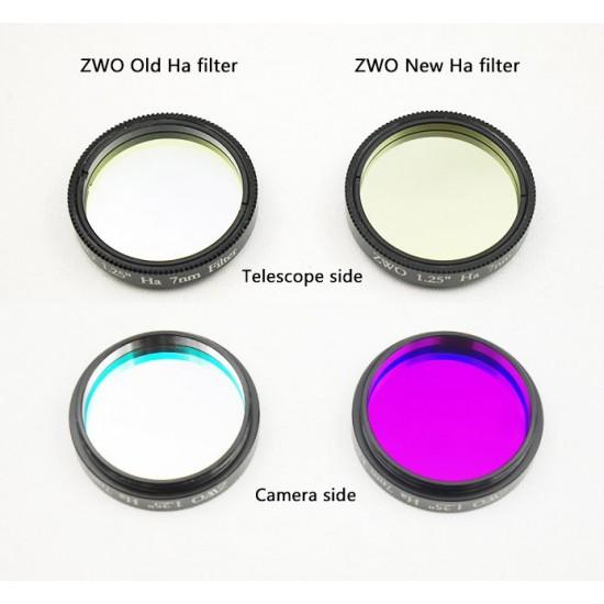 "ZWO 1.25"" H-alpha 7nm Narrowband Filter - Mark II"