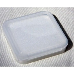 White Transparent Plastic Case for DEO-Tech OWL Spare M52 or M48 Filter Holder