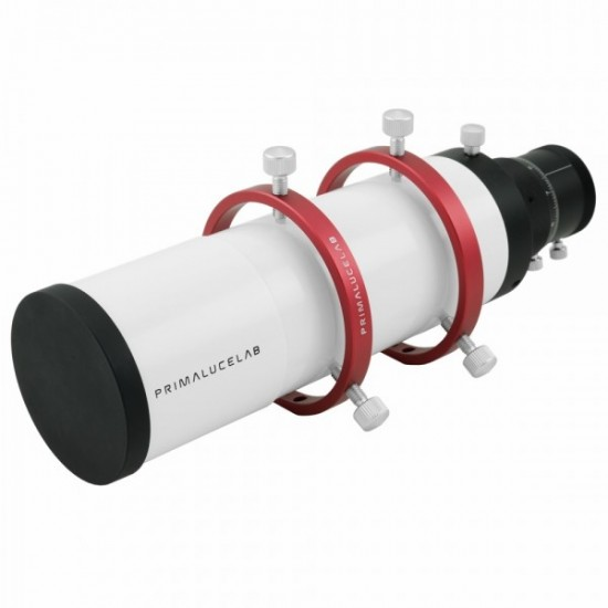 """Primaluce Lab 60mm Compact Guide Scope with PLUS 80mm Guide Rings with 1.25"""" Non-Rotating Helical Focuser"""