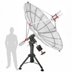 SPIDER230C 2.3m Compact Radio Telescope with H142-One Receiver with EQ8 Mount