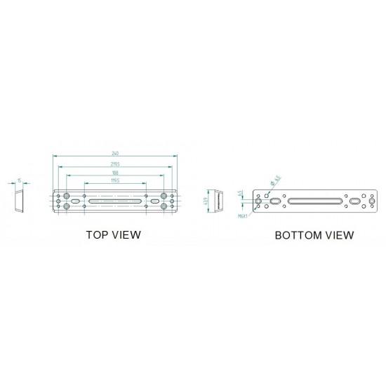 Primaluce Lab Side by Side Vixen Plate - Dual Platform - 240mm PLUS