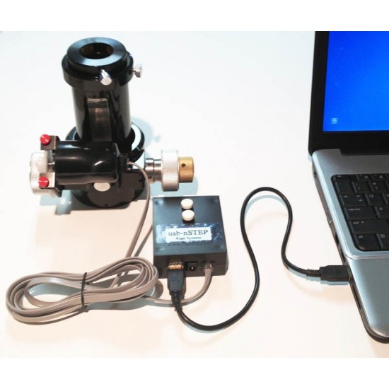 RIGEL Stepper Motor, USB nStep Focus Control with BUTTONS and Installation Kit for Baader Steeltrack Newtonian Focuser