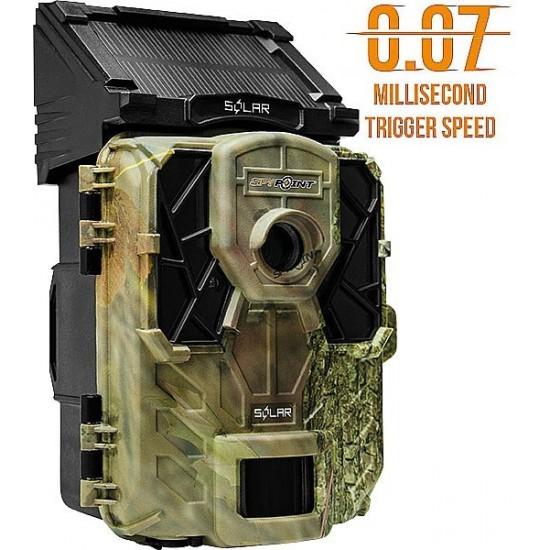 Spypoint SOLAR Camo 12MP Solar Powered Trail / Surveillance Camera with 42 Super Low-Glow IR LED Illumination