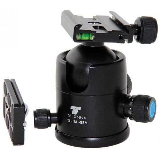 TS Optics TS-BH-58A Extra Heavy-Duty Ballhead for Photo Tripods - up to 15kg Payload