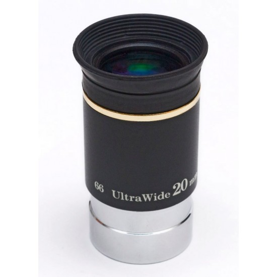 """TS Ultra Wide Angle Eyepiece 20mm 1.25"""" 66° with Improved Coating"""