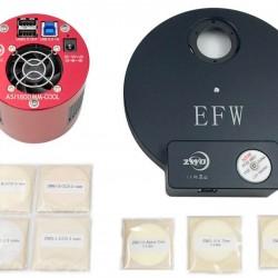 ZWO ASI1600MM-PRO COOLED Deep Sky Imaging Camera with EFW 8, 31mm RGBL Filter Set & 31mm H-alpha, OIII, SII 7nm Filter Set BUNDLE - BLACK FRIDAY