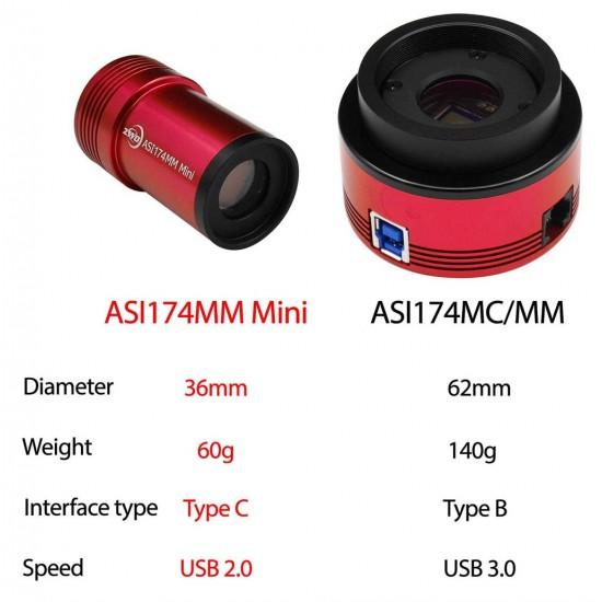 ZWO ASI174MM MINI USB2.0 Monochrome Small Format CMOS Camera with Autoguider Port