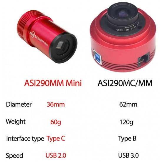 ZWO ASI290MM MINI USB2.0 Monochrome Small Format CMOS Camera with Autoguider Port