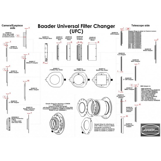 Baader UFC S70 40mm Extension for Baader Universal Filter Changer  CLEARANCE