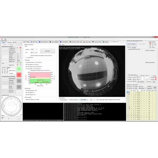 All-sky Camera for SPIDER Radio Telescopes