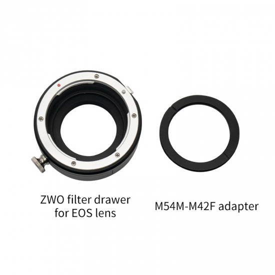 ZWO 2″ Filter Drawer for Canon EOS Lenses (with male M42 connection for the camera)